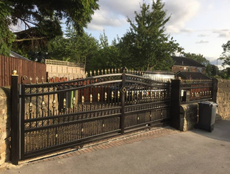 Electric Gates Leeds Manual Wrought Iron Gates Amp Fencing